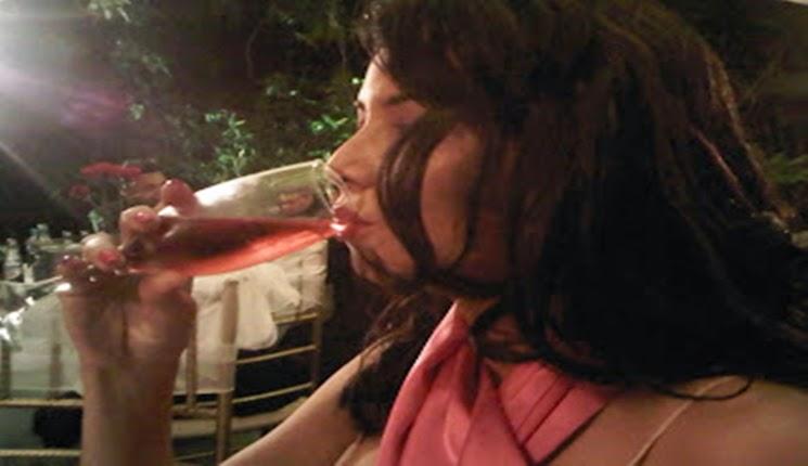 champaña color rosa