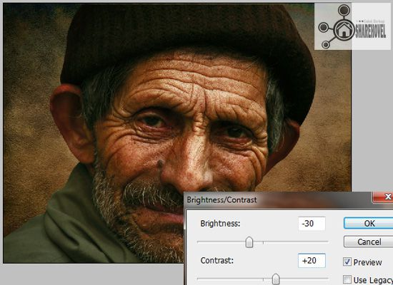 image adjustment brightness contrast - tutorial cara membuat efek smudge painting di photoshop