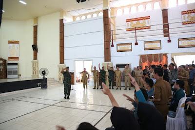 Bupati Lampung Timur Terima Mahasiswa KKN Unila