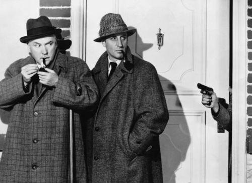 Dr Watson (Nigel Bruce) and Sherlock Holmes (Basil Rathbone)