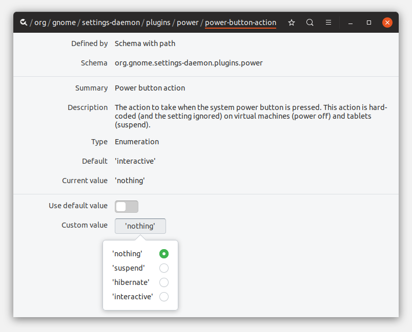 How to disable power button in Ubuntu 18 10