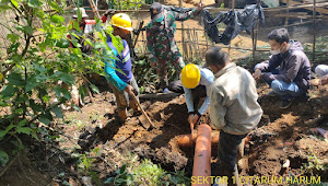 Satgas Citarum Sektor 1 Sub Cisanti Pantau Pembangunan TPS-3R di Kampung Plered