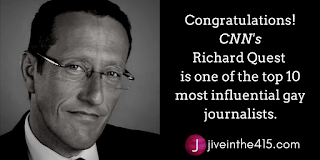 Richard Quest is one of the top 10 most influential gay journalists