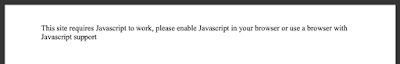 An image showing a blank web page, message: This site requires Javascript to work
