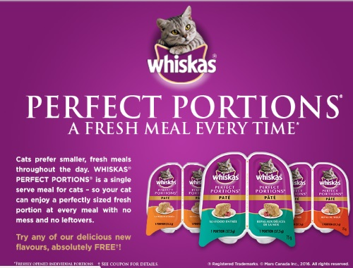 Whiskas Free Perfect Portions Coupon