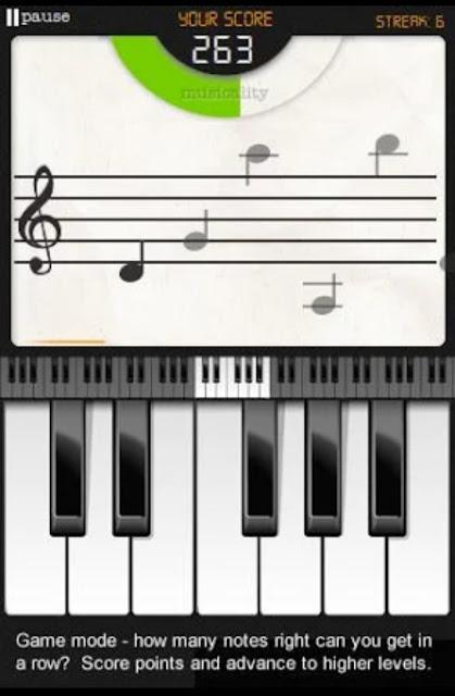 تطبيق جيد لمن يريدون تعلم النوته تلقائيا مع العزف   Note Trainer Lite Learn Piano