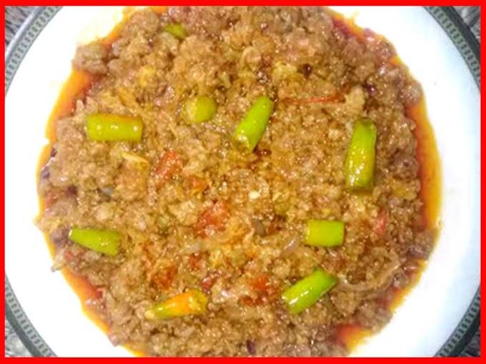 Fry Beef Mince Urdu Recipe