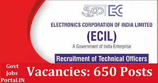 ECIL Jobs for Technical Officer 2021