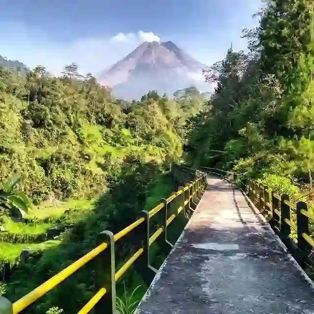 Jembatan plunyon kalikuning Jogja - foto instagram udin_jeepmerapi