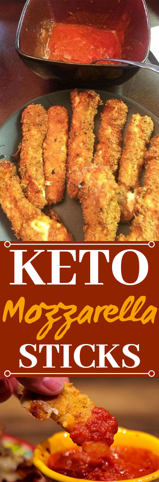 Keto Mozzarella Sticks (Ready in Less Than 30 Minutes) #healthy #snacks