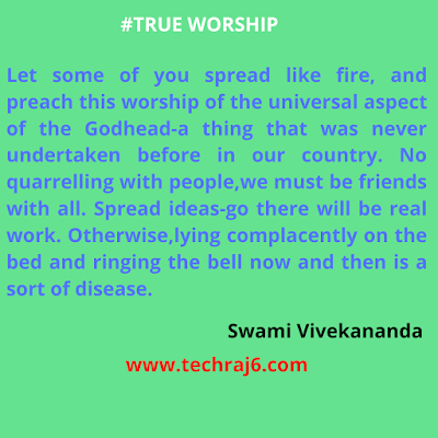 True Worship Quotes By Swami Vivekananda