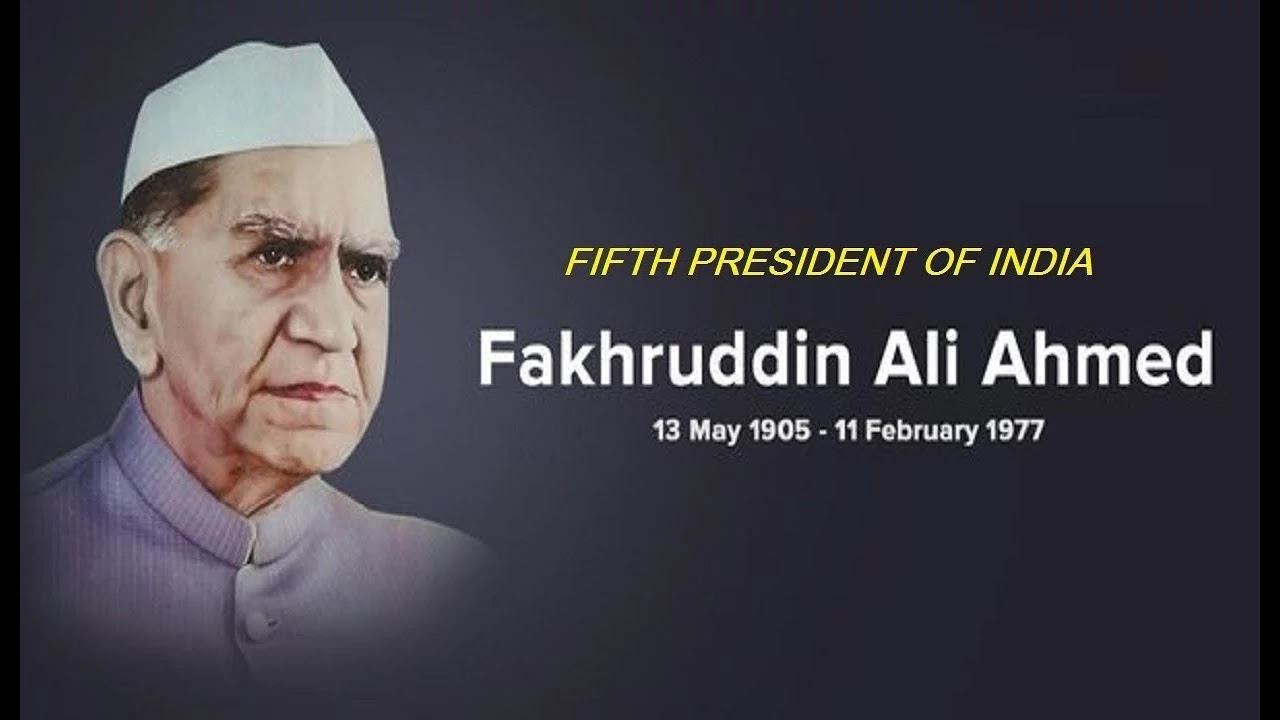 SHRI FAKHRUDDIN ALI AHMED, SHRI FAKHRUDDIN ALI AHMED son, SHRI FAKHRUDDIN ALI AHMED death, president of India,