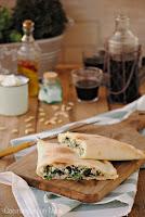 Calzone de espinacas y queso ricotta