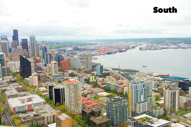 Southern View from the Space Needle in Seattle, WA