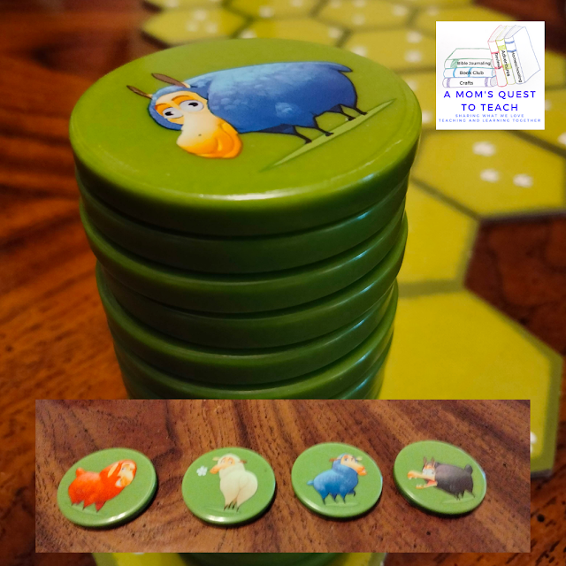 A Mom's Quest to Teach: Building Critical Thinking Skills with Games: A Review of Battle Sheep with sheep tiles for Battle Sheep