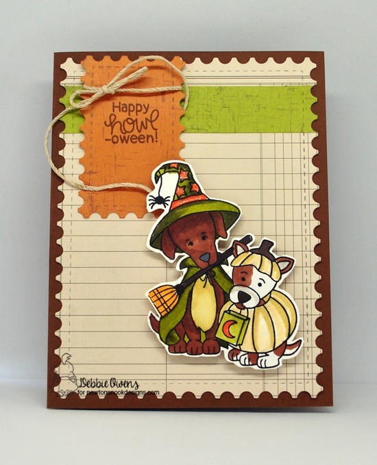 Happy Howl-oween by Debbie features Happy Howl-oween and Framework by Newton's Nook Designs; #newtonsnook