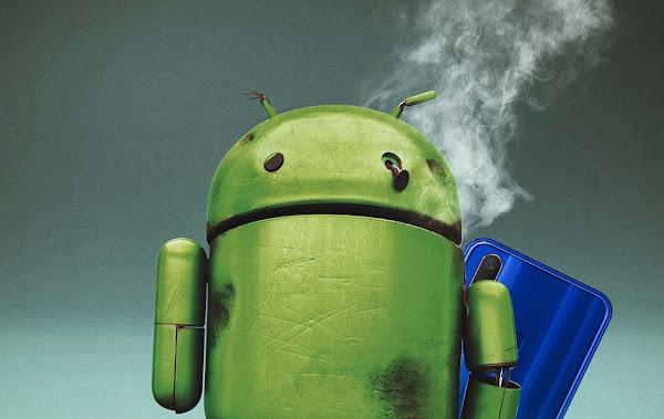 gambar android panas