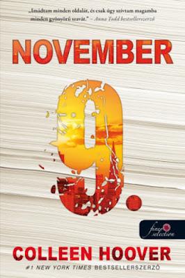 Colleen Hoover – November 9. young adult, new adult, Rubin Pöttyös Könyvek, megjelent a Könyvmolyképző Kiadónál