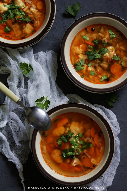 zupa z ryby, rosół z ryb, morszczuk w zupie, sprawdzony przepis na zupę rybną, daylicooking