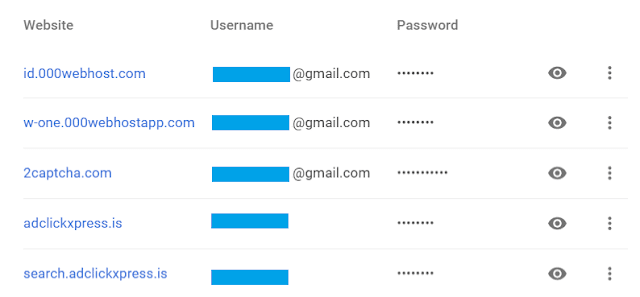 Melihat Password di Google Chrome