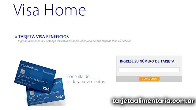 tarjeta alimentar Visa ¿Como consultar saldo?