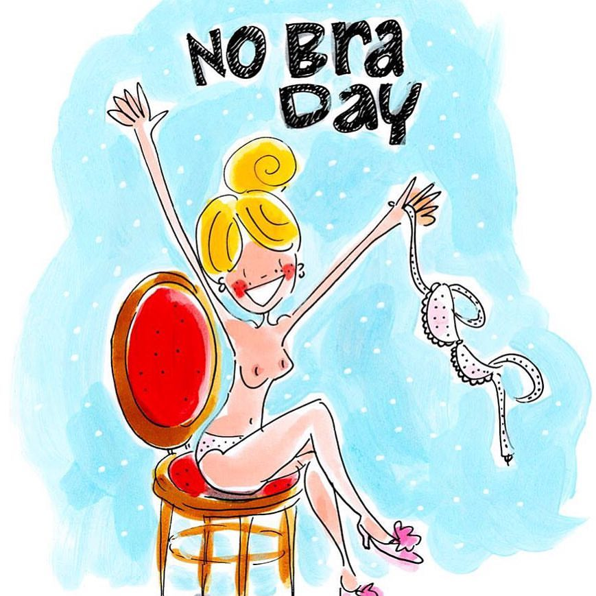 National No Bra Day Wishes Sweet Images