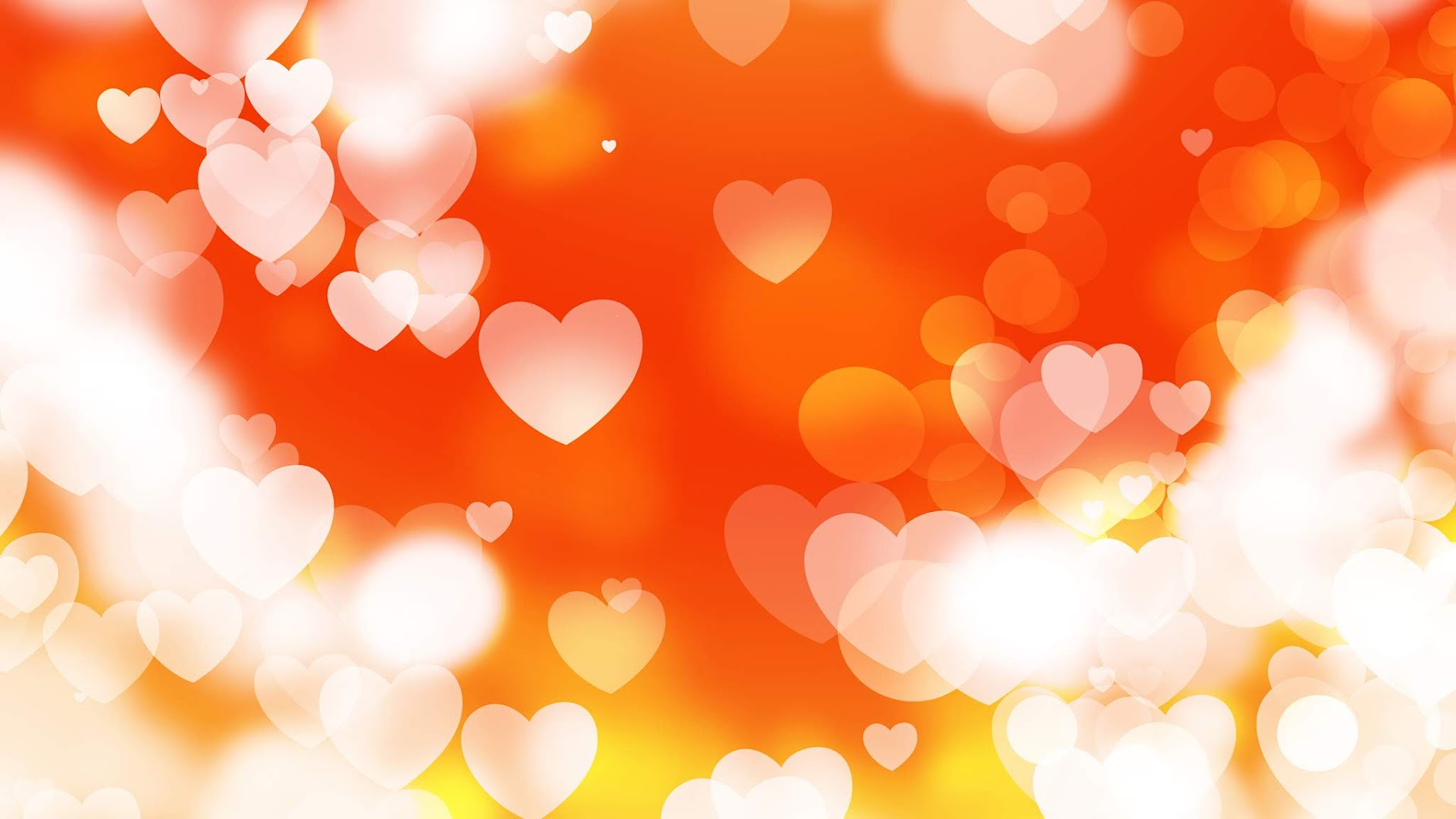 Bokah Hearts oft Background