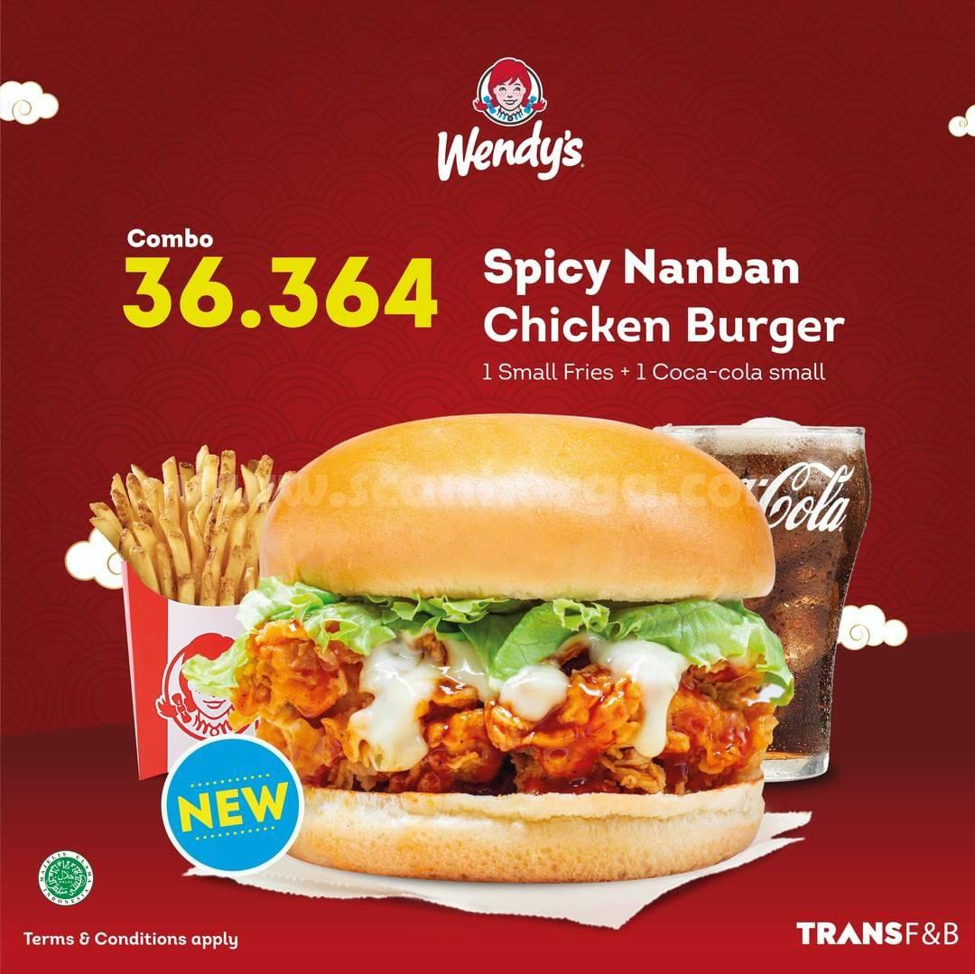 BARU! WENDY'S Spicy Nanban Chicken Burger!
