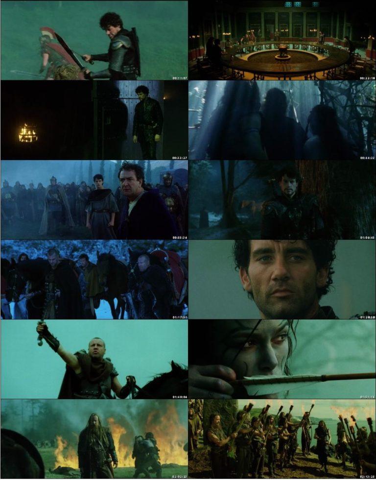 Screen Shot Of King Arthur 2004  In Hindi English Dual Audio Bluray