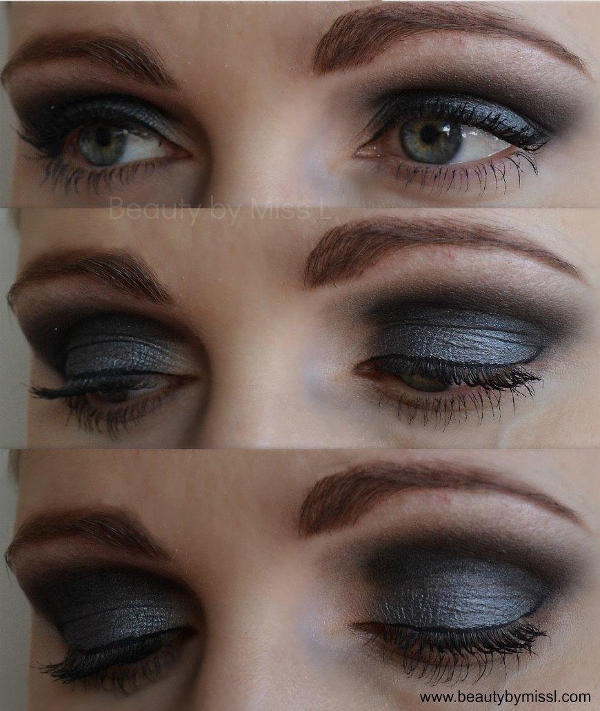dark grey eye makeup