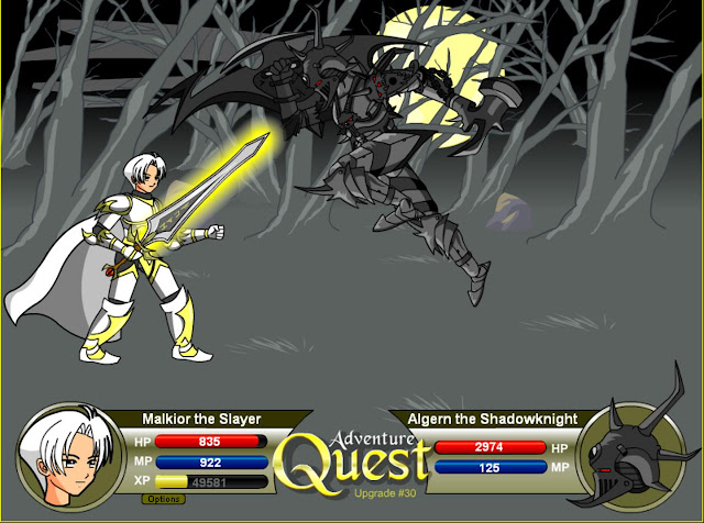 En Adventure Quest pelearas contra diversos monstruos para subir de nivel