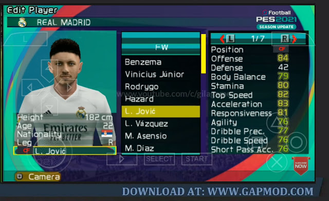 Download PES 2021 Lite 400MB PPSSPP Master League