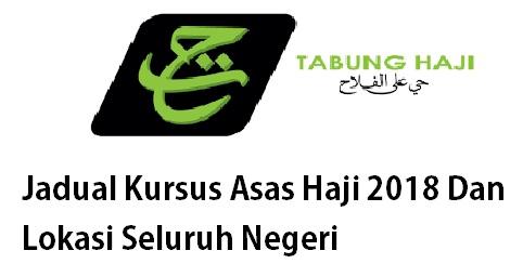 Tarikh dan lokasi Kursus Asas Haji 2018