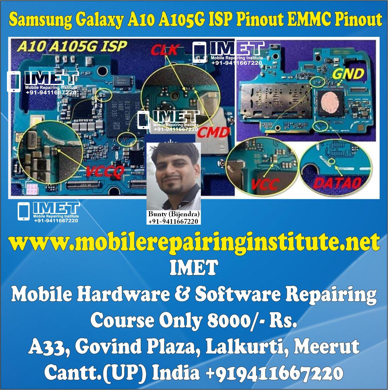 Samsung Galaxy A10 A105G ISP Pinout EMMC Pinout – Dead Boot Repair FRP Remove