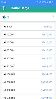 Daftar Harga Agen Pulsa Termurah XL