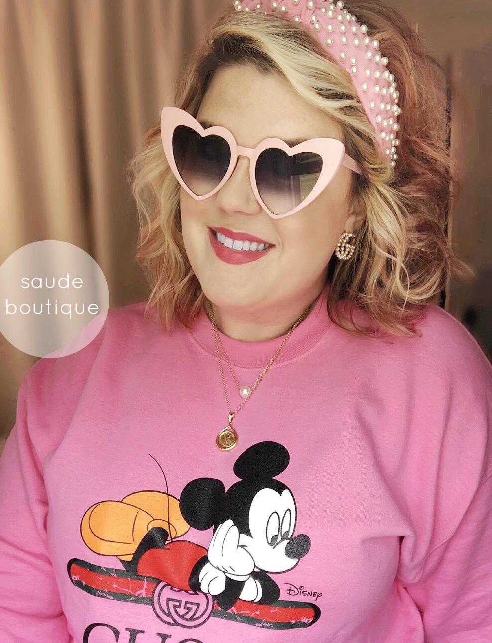 Pink Gucci Mickey sweatshirt dupe