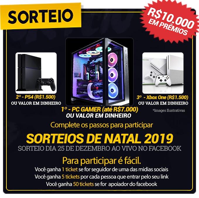 MEGA SORTEIO Concorra a Prêmios Incríveis Avaliados em R$ 10.000!!