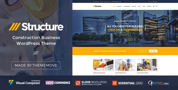 Structure - Construction Business WordPress Theme