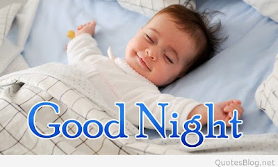 good night cute baby