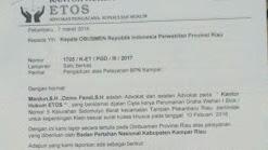Badan Pertanahan Nasional kampar dilaporkan ke ombusmen Perwakilan Riau