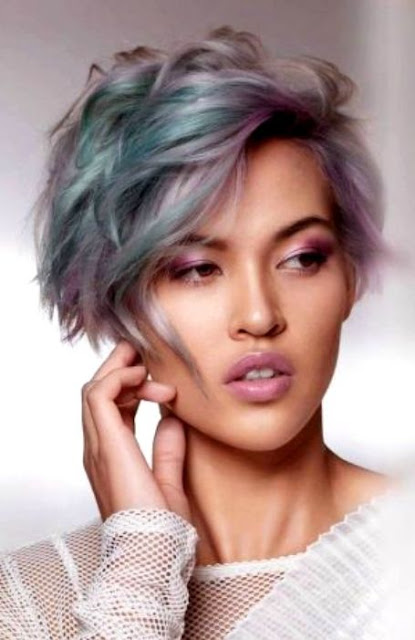 Shaggy Pixie Medium Length Hairstyle - Medium Length Hairstyle and Haircuts For Women