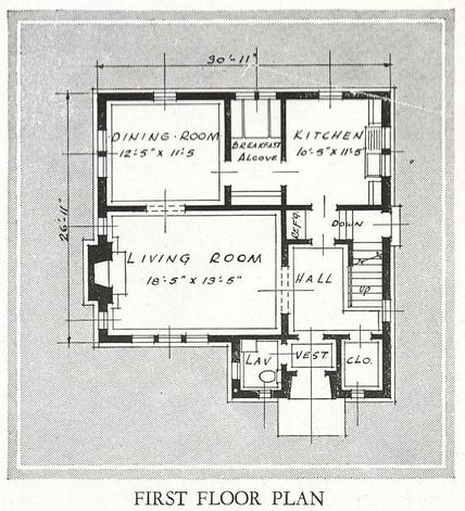 Vintage sears belmont first floor layout