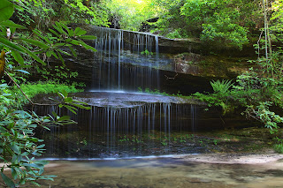 small waterfall tennessee mountains
