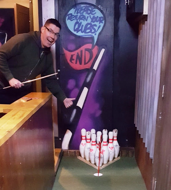 Roxy Ball Room on Boar Lane in Leeds has a tenpin bowling-themed hole. But you'll need to visit Roxy Lanes for a bowl