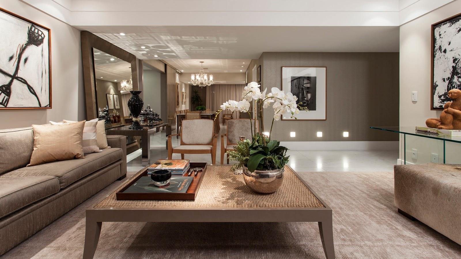Sala De Estar Na Cor Branca ~ Salas de estar, jantar, tv, bate papo e varanda decoradas com cor