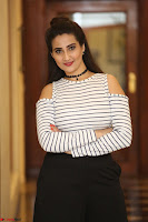 Manjusha in sleevelss crop top and black skirt at Darshakudu pre release ~  Exclusive Celebrities Galleries 048.JPG