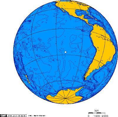 острів Пасха на карті світу