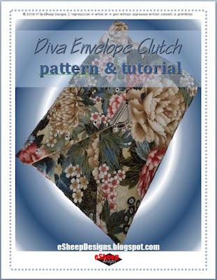 Diva Envelope Clutch by eSheep Designs
