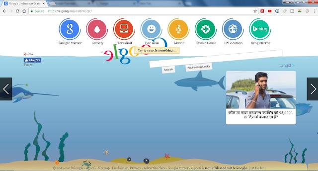 google under water
