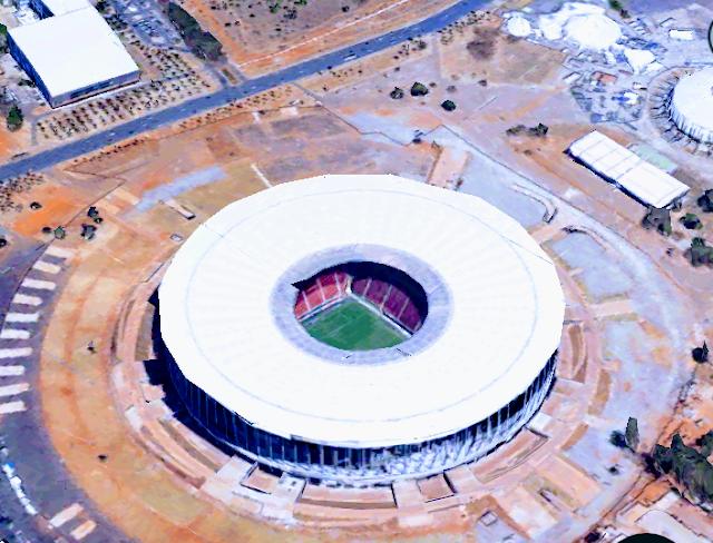 O Estádio Nacional Mané Garrincha em Brasilia-DF.